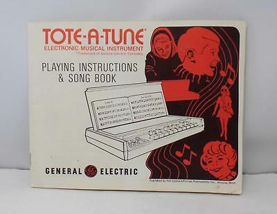 Manual for Vintage 1971 GE Tote-a-Tune Electronic Portable Organ model N4001A