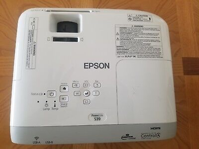 """Epson 3LCD Projector S39 14-1/5""""Wx14-1/5""""Lx6-2/5""""H White/Gray"""