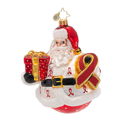 Radko Santa CLAUS FOR A CURE 2013 Glass Ornament HIV/Aids Charity 1016957
