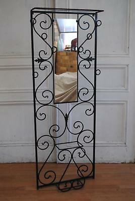 Antique French c1930's Art Deco Cast Iron Hat & Coat Hall Stand Apartment Living