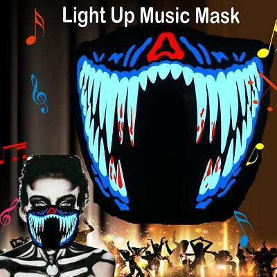 Luminous LED Rave Party Face Mask Equalizer Glow Music Cosplay Hallowen Dance