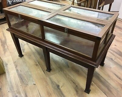Victorian Antique Display Cabinet Original Museum Piece Ideal Shop Fitting