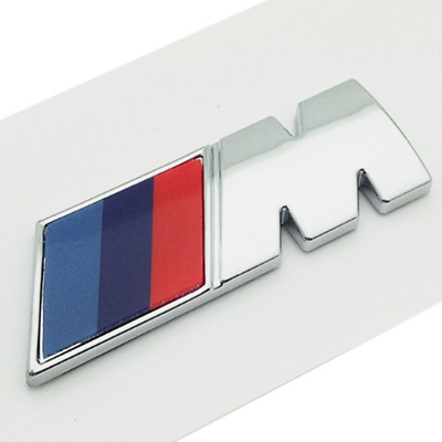Car M Power Performance Badge Fender Emblem Sticker For BMW E46 E52 E53 E60 E90