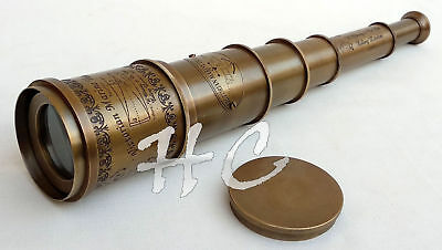 "Antique Brass 18"" Victorian Telescope Copper Nautical Vintage Spyglass Marine"