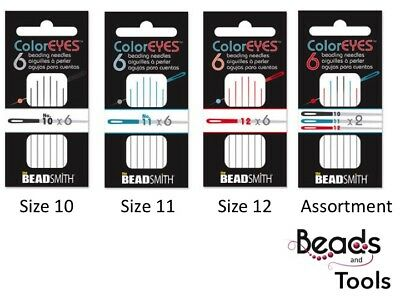 ColorEYES™ Beadsmith Beading Needle Size 10, 11, 12 and Assorted Pack