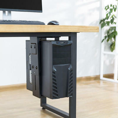 Adjustable Under-Desk /Wall CPU Mount, Computer Tower Holder with 360° Swivel