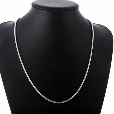 "925 Sterling Silver 3mm Snake Chain 16"" 18"" 20"" Necklace Jewelry for woman"