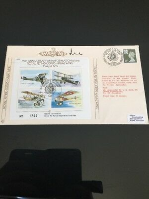 1987 75th Anniversary Of Formation Of Royal Flying Corps Signed RAF Flight FDC
