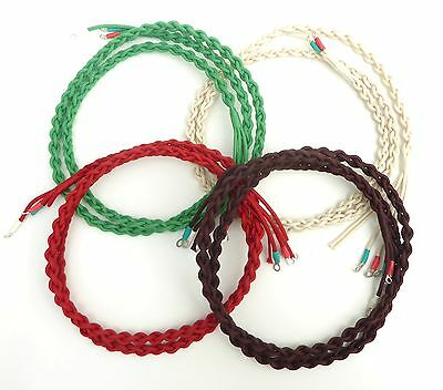 Top Quality Braided Plaited Handset Cord Bakelite GPO Telephones - All Colours
