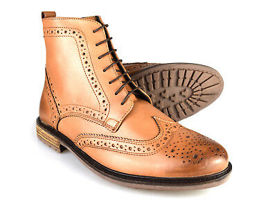 8785aea703c SILVER STREET LONDON GERRARD Mens Leather Lace Up Comfy Brogue Derby ...