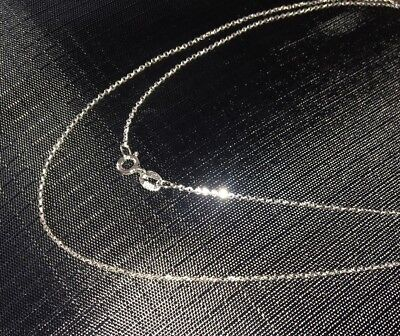 """18"""" 21''Inch Genuine 925 Sterling Silver Chain Necklace Curb And Belcher  Rope"""