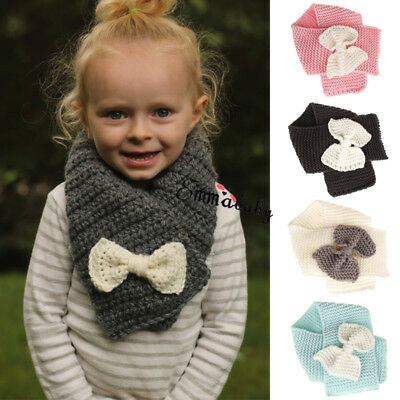 Toddler Baby Boys Girls Crochet Knit Shawl Cape Cloak Winter Warm Knitted Scarfs