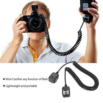 TTL Off-Camera Flash Sync Extension Cord for Canon Nikon Hot Shoe Flashlight BS