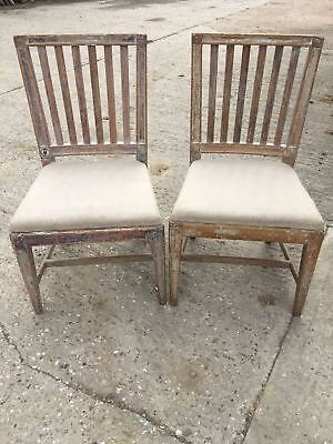 Pair of 18th Century Swedish/Gustavian Dining Chairs