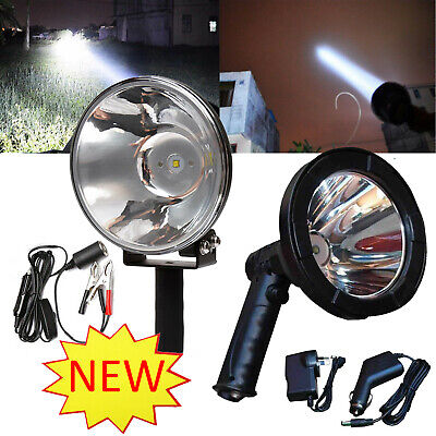 2800W CREE Handheld Spot Light Rechargeable LED Spotlight Hunting Shooting 12V