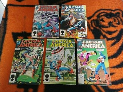 Captain America [1968] #301 Thru 350 Complete Run Lot 1985 To 1989
