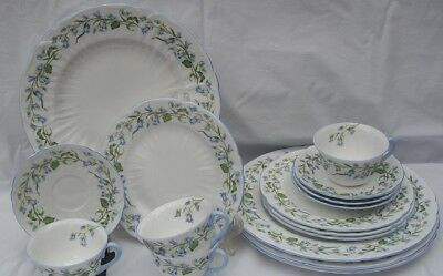 Shelley Harebell England Bone China 16 Pc Dinner, Salad Plate, Cup, Saucer