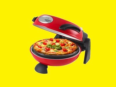 Pizza Oven with Feuerfestem Stone / Pizza Maker / Rolls Baking/1000W Pizza Bake