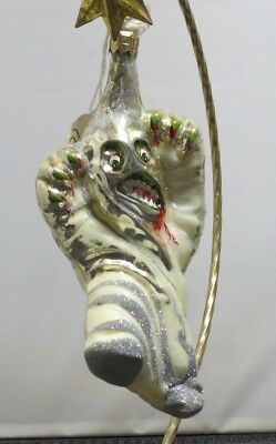 Slavic Treasures Ghostly White NEW Holloween Glass Ornament Poland 02-99-77