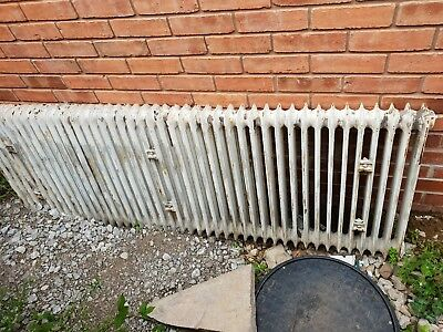 Cast iron art nouveau duchess radiator reclaimed