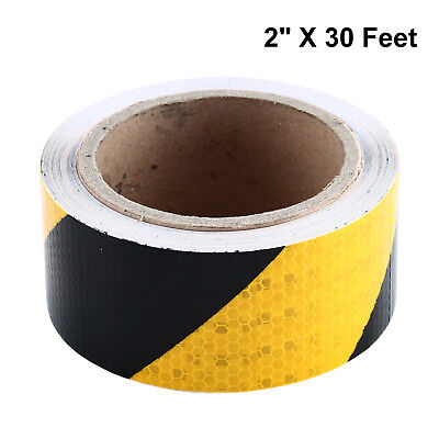 "2""x30FT 9M Reflective Safety Warning Conspicuity Tape Strip Arrow Sticker Roll"