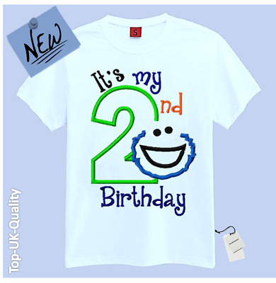 New Its My 2nd Second Birthday T Shirt Childrens Kids Girls Gift Idea