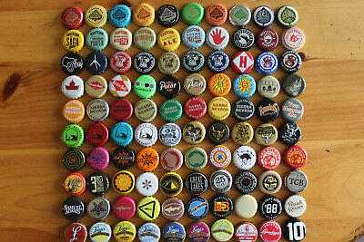 Lot of (100) Different Beer Bottle Caps Crowns UNDENTED Microbrew Craft Beer