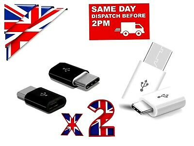 2x TYPE C TO MICRO USB ADAPTER  CONVERTER for CHARGER SYNC for SAMSUNG XIAOMI LG