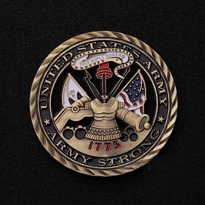 1775 U.S. Army Core Values Military Commemorative Challenge Coin-Hollowed Out