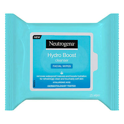 NEW Neutrogena Hydro Boost Cleanser Facial Wipes - 25 Pack