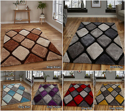 Modern Small Extra Large Designer Shag Pile Multi Coloured Acrylic By Think Rug
