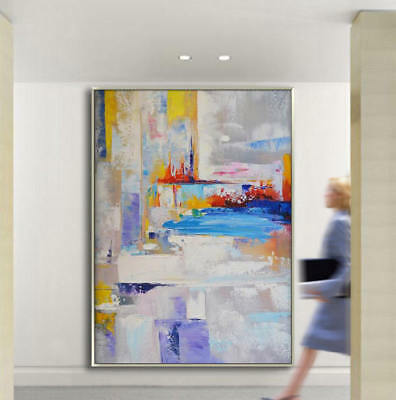 YA881 Large Modern Abstract Home decor art Canvas Hand-Painted oil painting