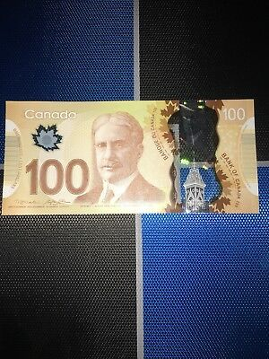 Canada $100 Dollar Unc Bill 2011 Note