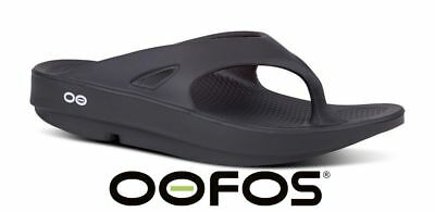 *NEW* OOFOS Original Impact Absorption Sandal Recovery Flip Flop BLACK OORIGINAL
