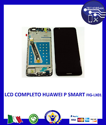 Display lcd  touch Assemblato con Frame per Huawei P SMART FIG-LX1 NERO nuovo