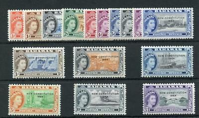Bahamas 1964 New Constitution set SG228/43 MLH see desc