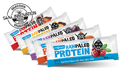 Raw Protein Bar Maxsport Nutrition 8 x 50g *100% natural*Gluten free*Vegan*