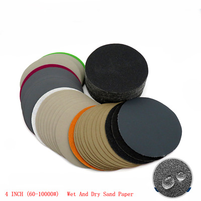 996A Wet And Dry SandPaper 4 Inch 100mm Grit 60 - 10000  Sanding Disc Wood Metal