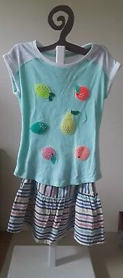 Girl Set Cat and Jack Blouse and Skirt Size 7/8 GOOD Pre-Owned