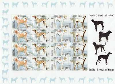 India Modern 2005 SL30 Dogs in India Theme sheet PI Rs 300
