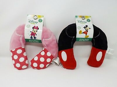 Disney Baby Super Soft Neck Roll Pals - New - Minnie & Mickey Mouse