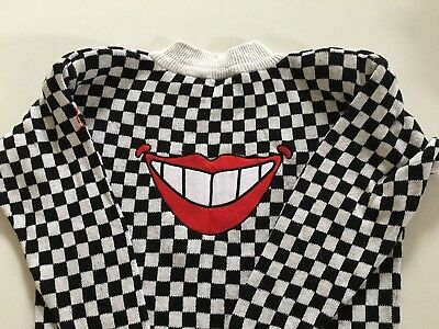 PETER MAX Vtg 80's Smile NeoMax Shirt sweater med-large, womens