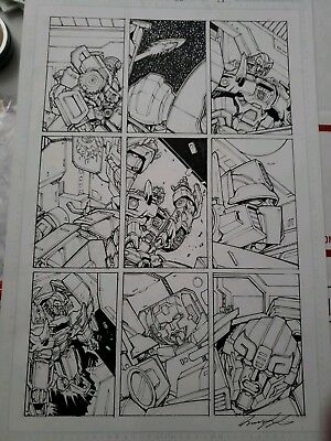 Transformers IDW RID 35 Page 15 Original Art Griffith Prowl
