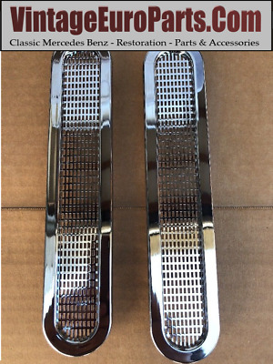 New Pair of Rear Seat Chrome Vents For W113 230SL 250SL 280SL PAGODA Mercedes