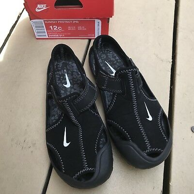 e80a944bd71 Nike Sunray Protect PS Sandals Shoes 344926-011 Black Toddler Kids Size 12c