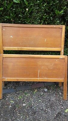 Vintage Headboard and Footboard for single bed. Bedframe available