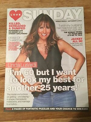 New UK Linda Lusardi Love Sunday Magazine Cover September 2018 Page Three Girl