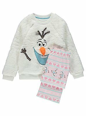 Girls Disney Frozen Olaf Pyjamas Fleece Age's 4-6 Years