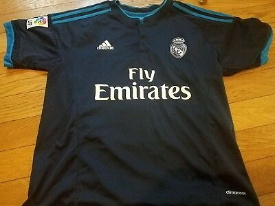4fae486a3 RARE Real Madrid Spain fly Emirates Ronaldo #7 soccer futbol Jersey Blue  FIFA