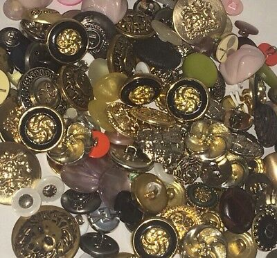 Huge Lot of 150+ Vintage to Now Buttons Button Metal Plastic Crafts